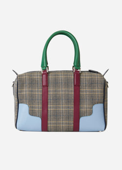 Tibi Mercredi Bag Plaid/Dusty Plum Multi-2