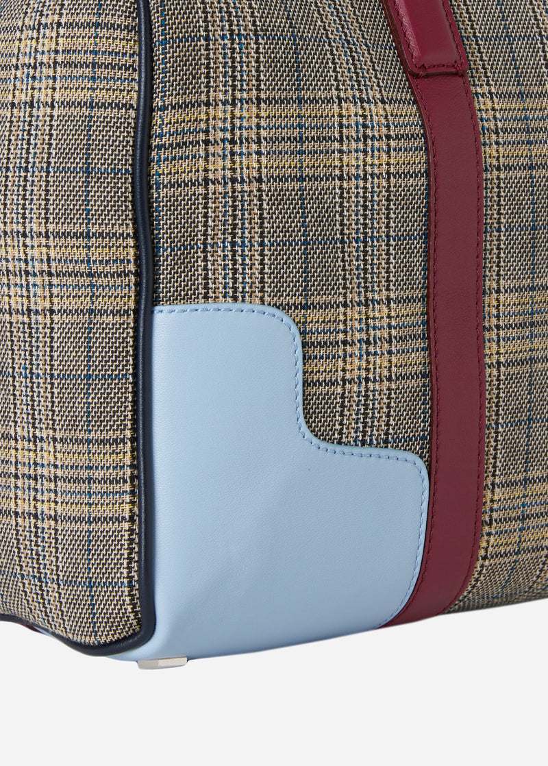 Tibi Mercredi Bag Plaid/Dusty Plum Multi-3