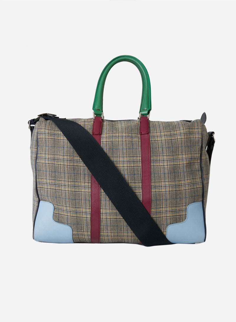 Tibi Lundi Bag Plaid/ Dusty Plum Multi-7