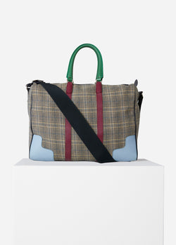 Tibi Lundi Bag Plaid/Dusty Plum Multi-6