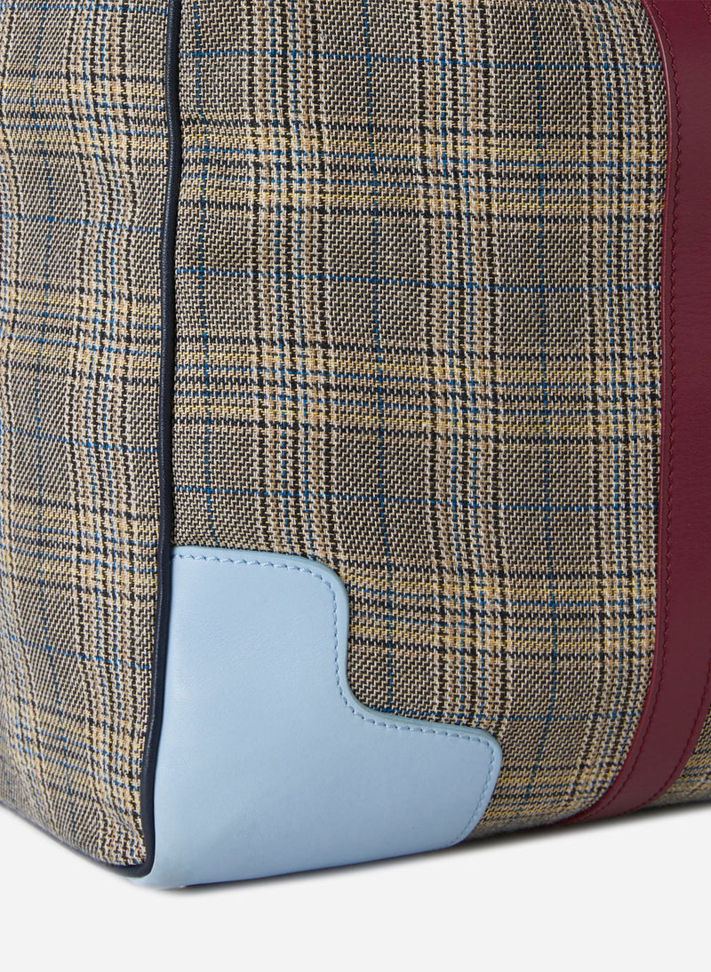 Tibi Lundi Bag Plaid/ Dusty Plum Multi-8