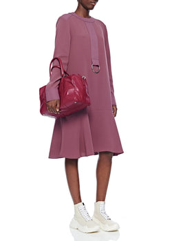 Tibi Mercredi Bag Dusty Plum-9