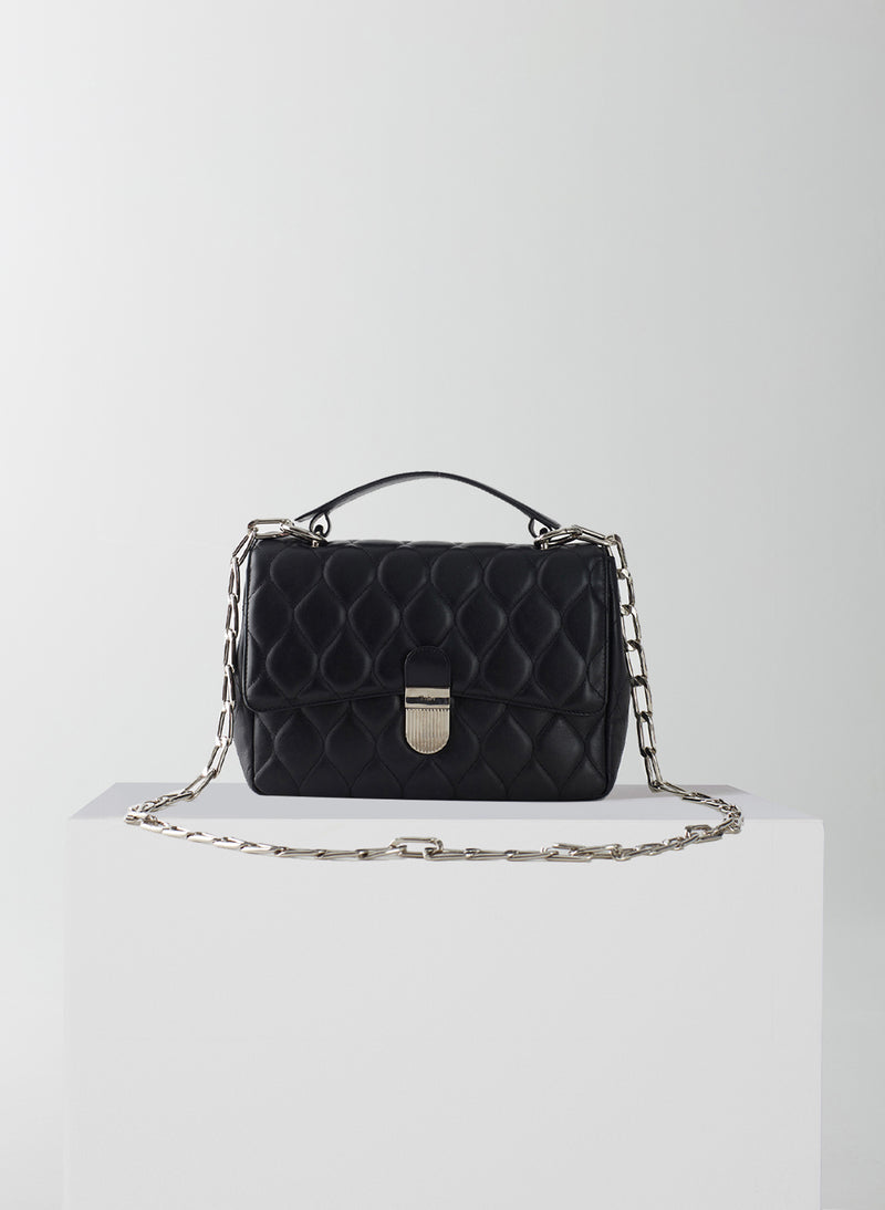 Quilted Lady Bag Black-1