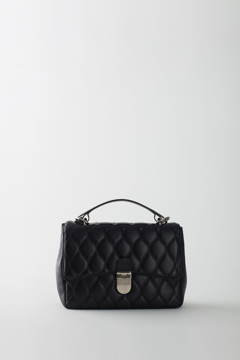 Quilted Lady Bag Black-3