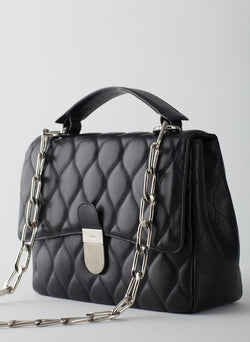 Quilted Lady Bag Black-4