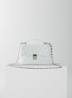 Quilted Lady Bag White-7