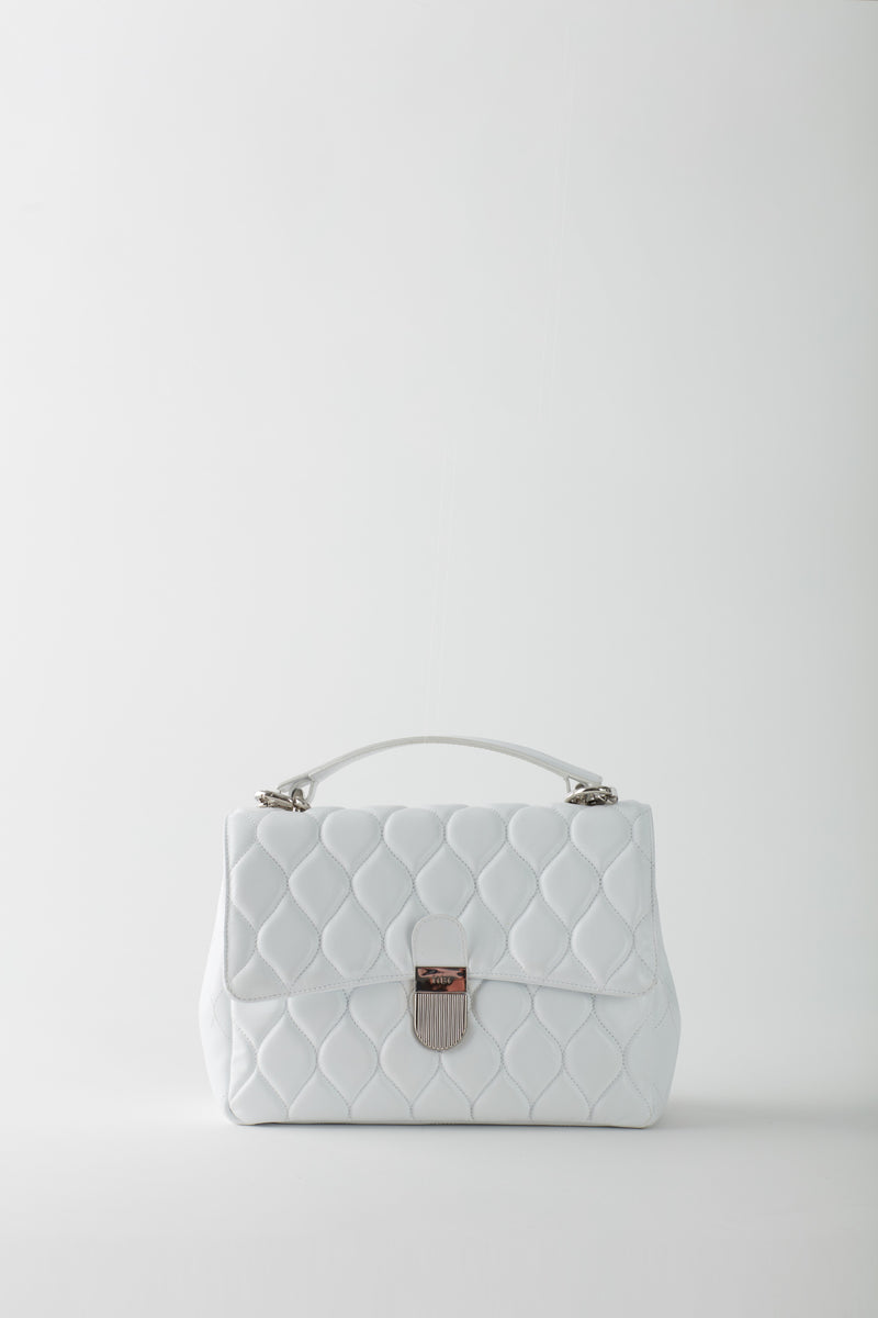 Quilted Lady Bag White-9