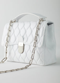 Quilted Lady Bag White-10