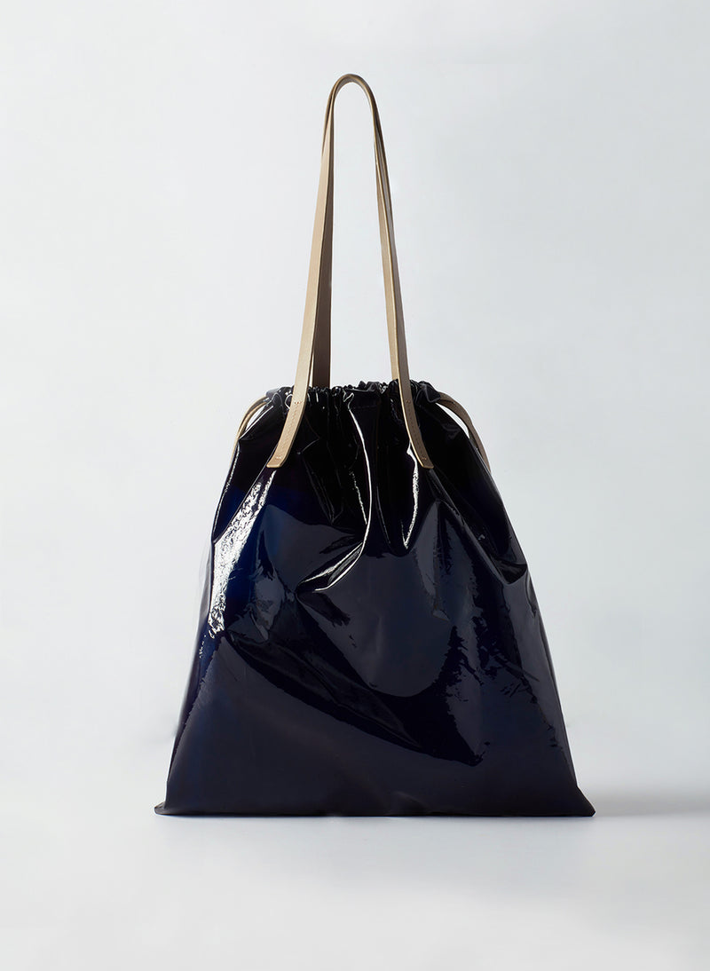 Tibi Vinyl Bag Navy Multi-2
