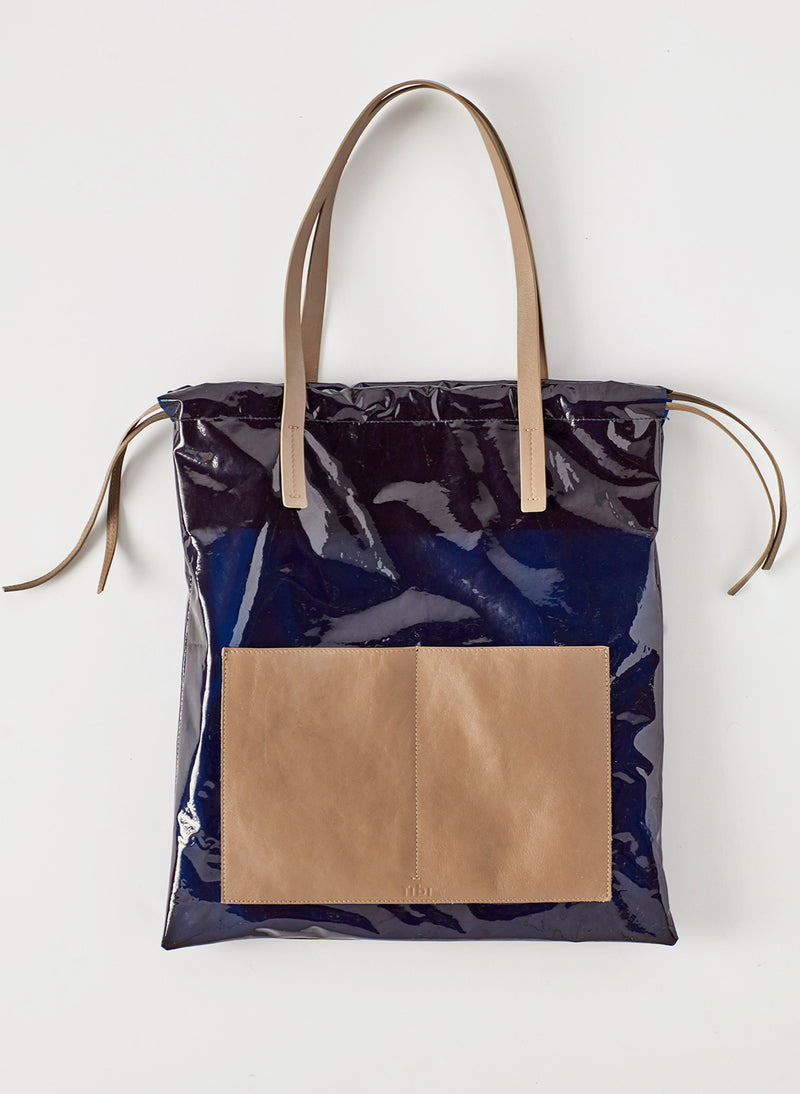 Tibi Vinyl Bag Navy Multi-3