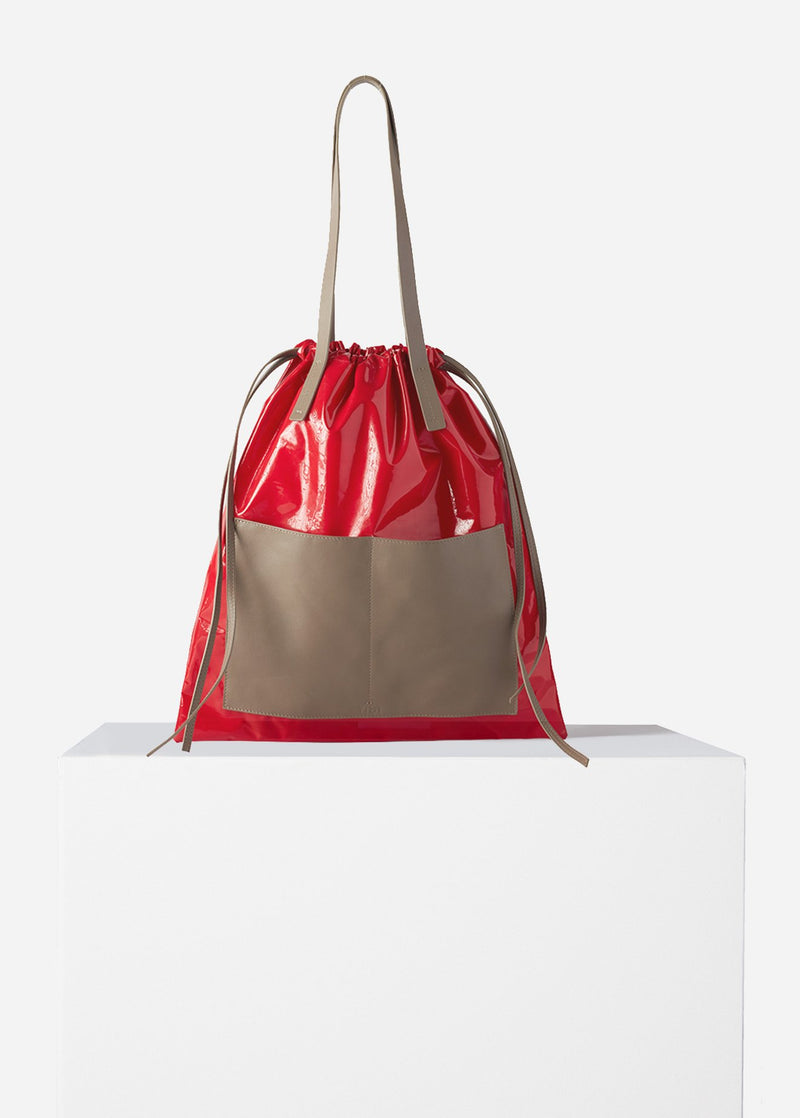 Tibi Vinyl Bag Red Multi-6