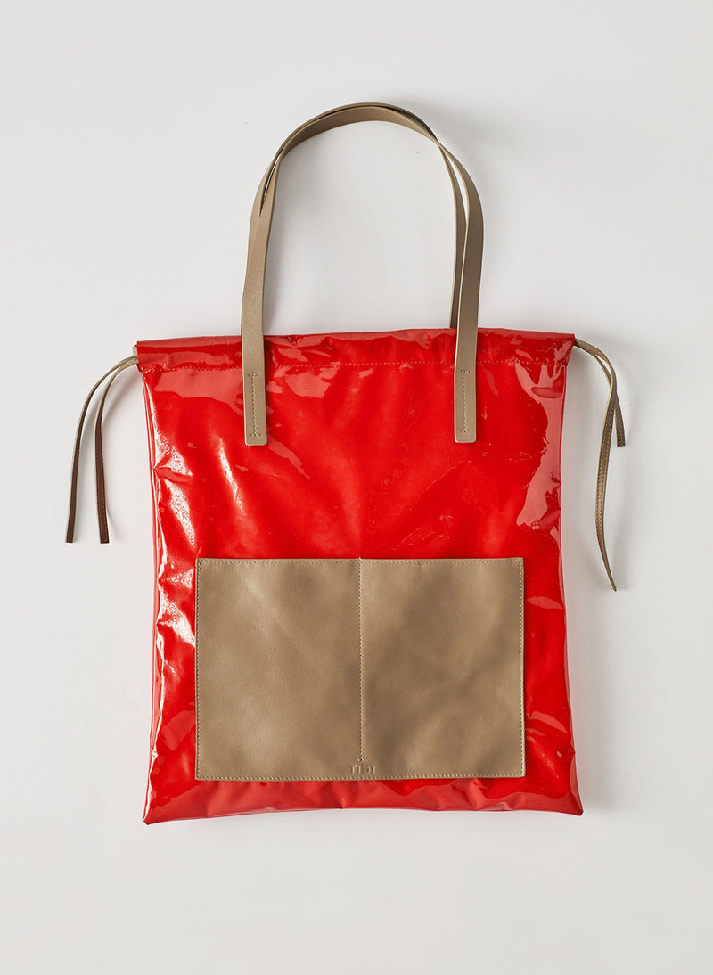 Tibi Vinyl Bag Red Multi-8