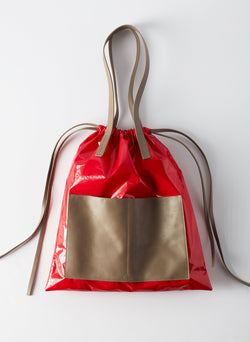 Tibi Vinyl Bag Red Multi-9