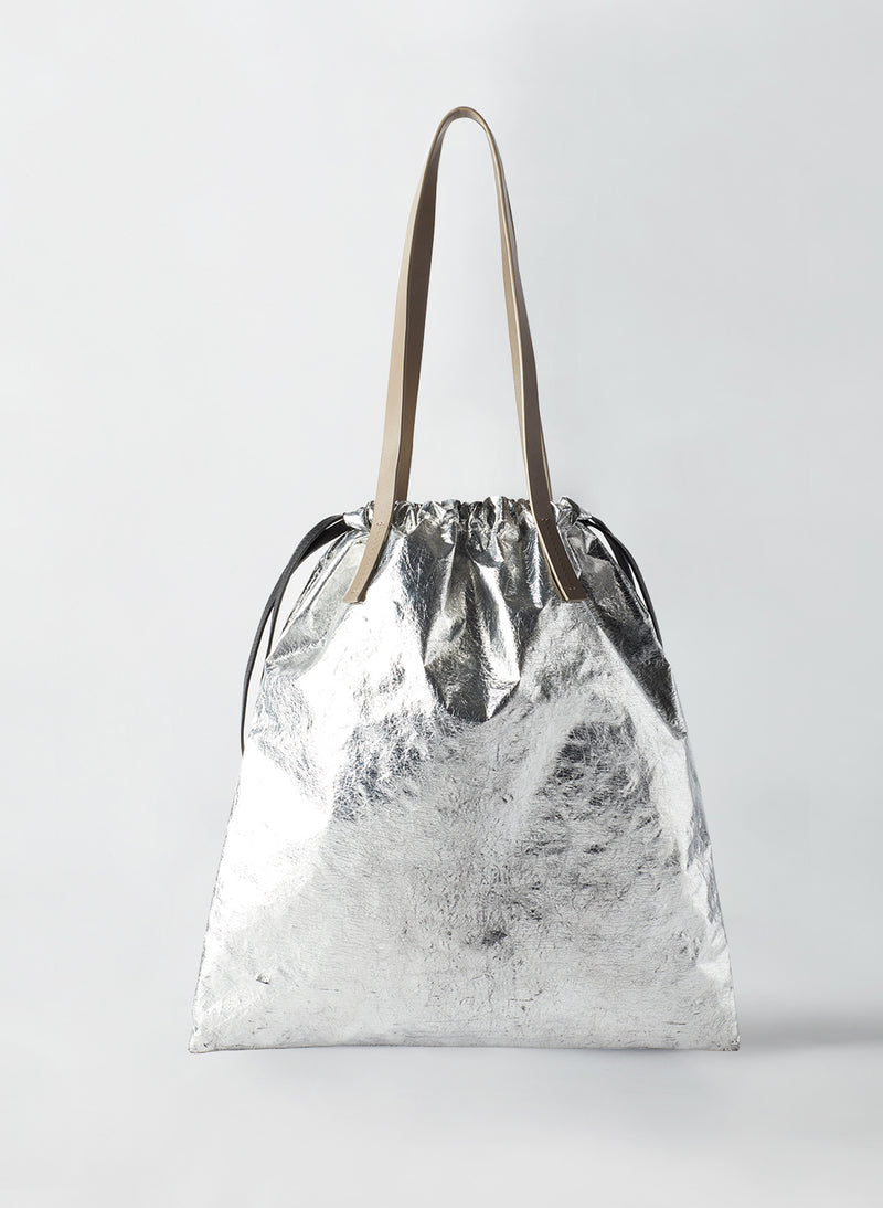 Tibi Vinyl Bag Silver Multi-3