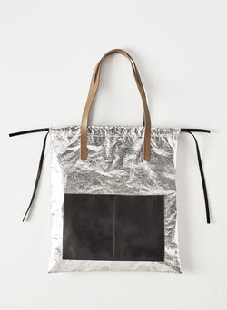 Tibi Vinyl Bag Silver Multi-4