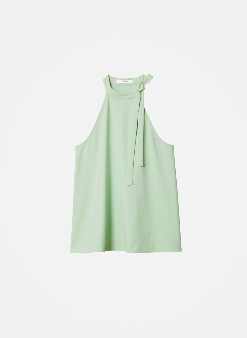 Chalky Drape Halter Top Mint-5