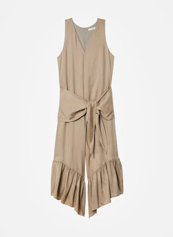 Cupro Jumpsuit Cool Taupe-11