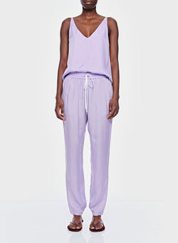 Cupro Pull On Pant Lavender-1
