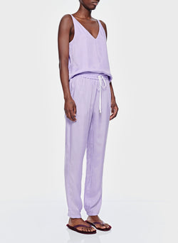 Cupro Pull On Pant Lavender-2