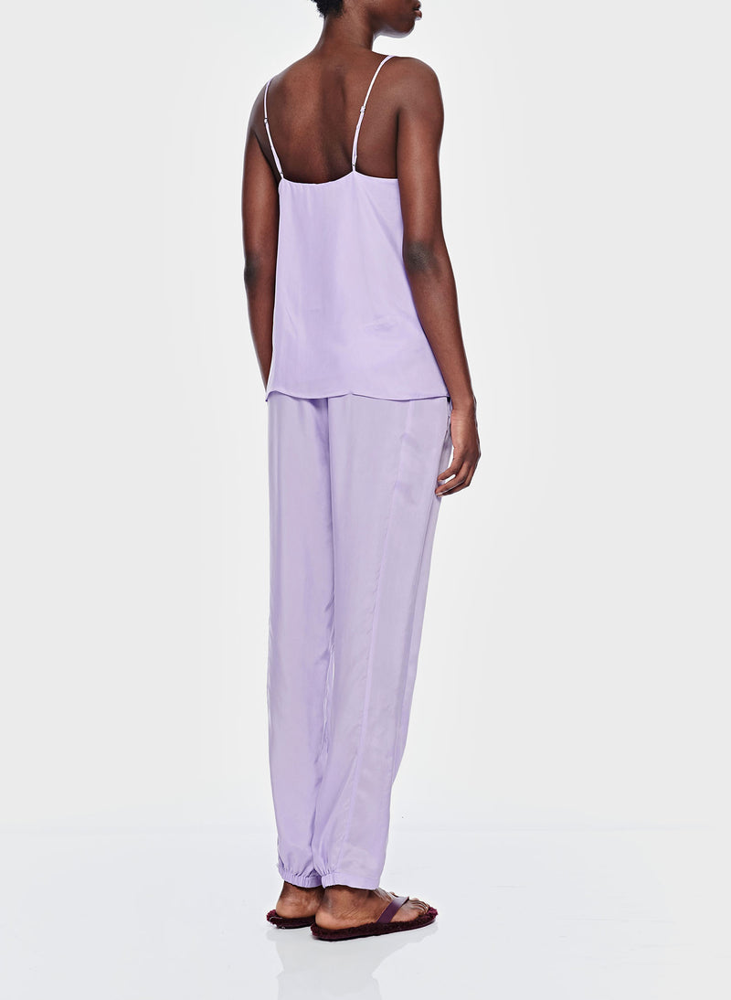 Cupro Pull On Pant Lavender-3