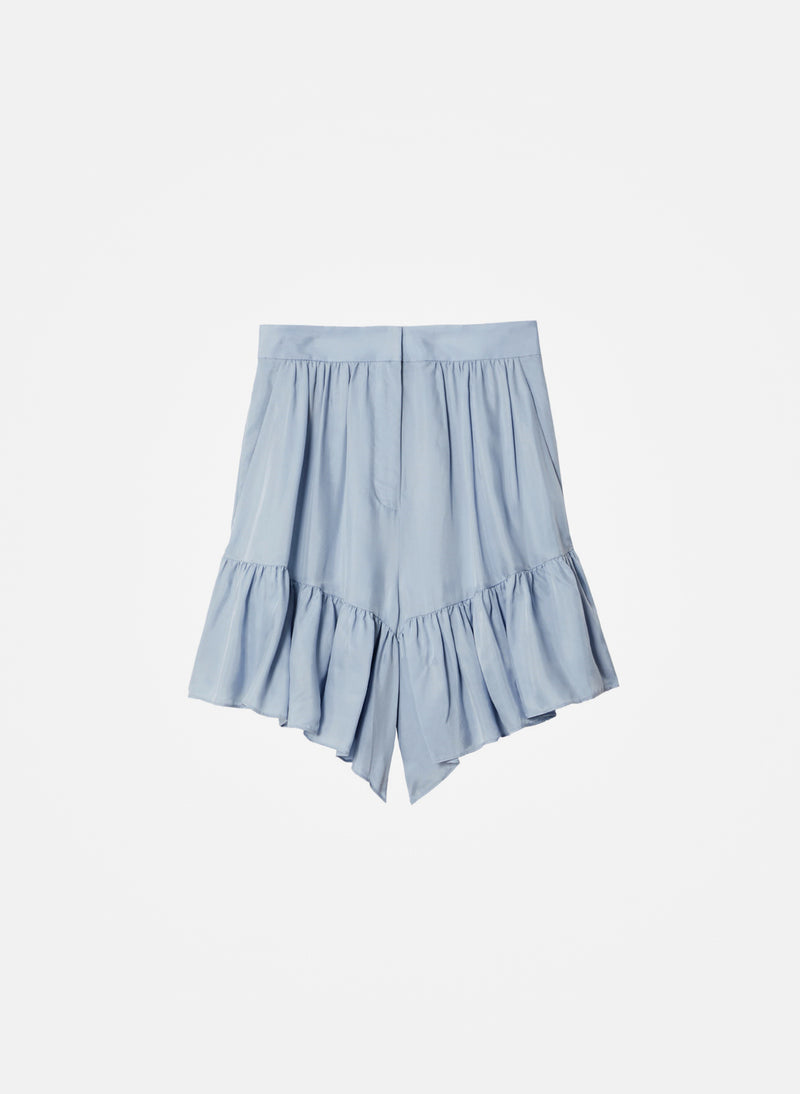Cupro Short Blue Grey-5