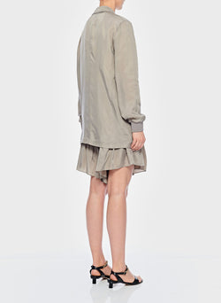 Cupro Short Cool Taupe-4