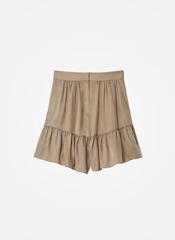 Cupro Short Cool Taupe-2