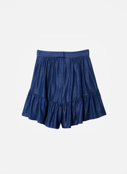 Dark Indigo Drape Short Dark Indigo-5
