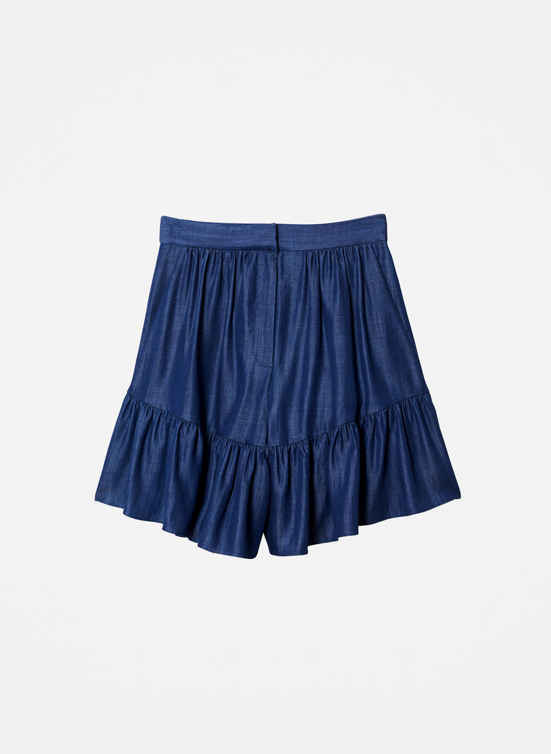 Dark Indigo Drape Short Dark Indigo-2