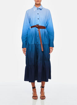 Dip Dye Shirtdress Blue Wash-1