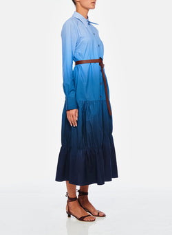 Dip Dye Shirtdress Blue Wash-3