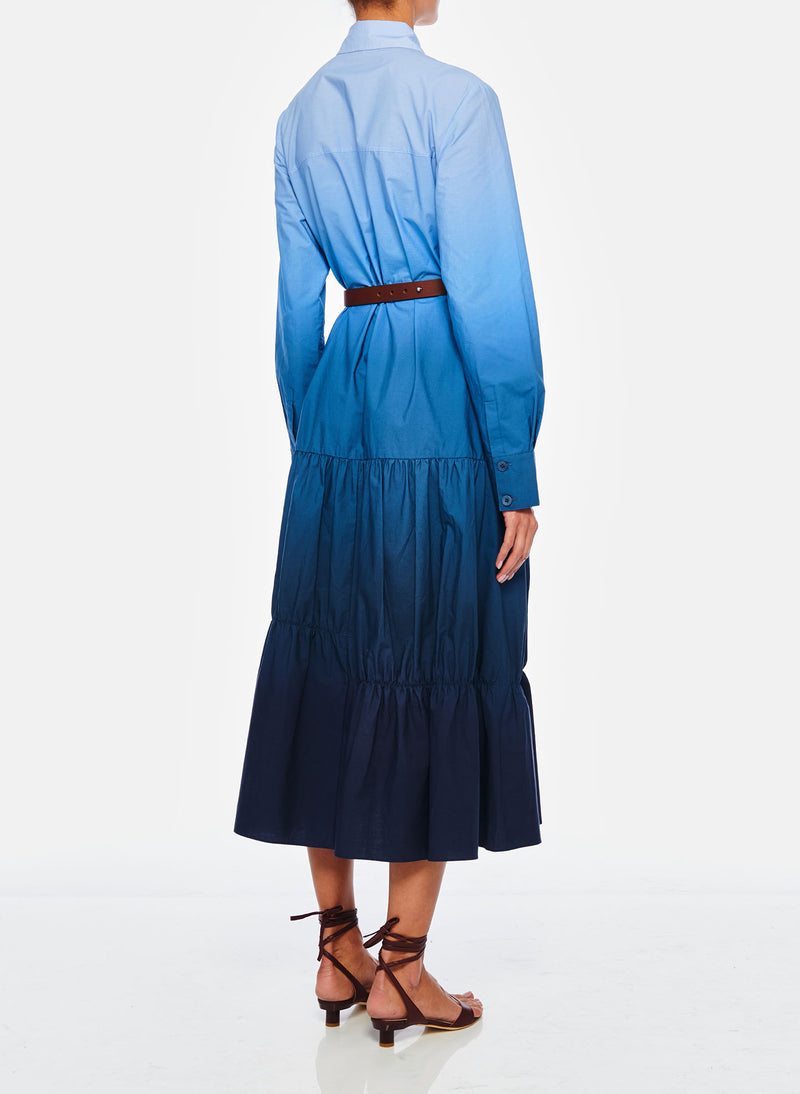Dip Dye Shirtdress Blue Wash-4