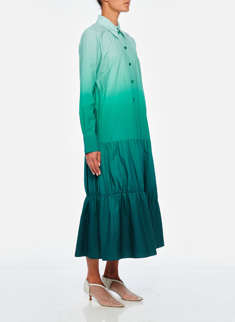 Dip Dye Shirtdress Green-6