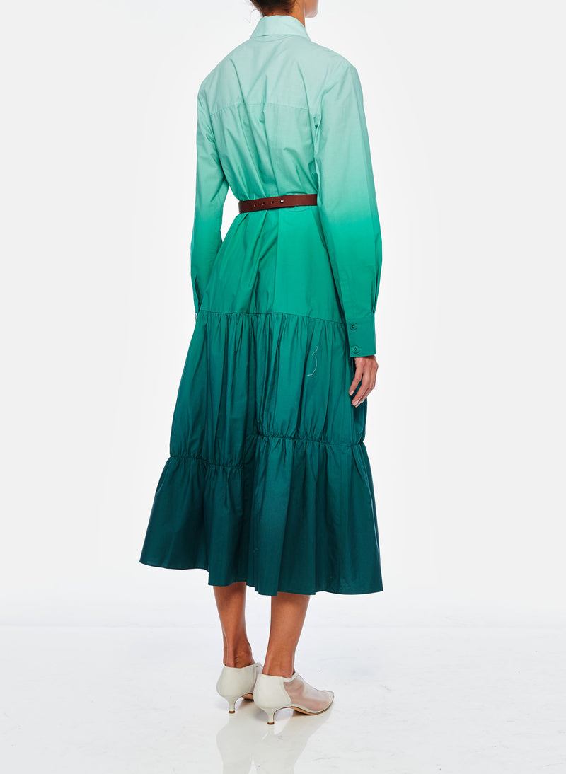 Dip Dye Shirtdress Green-7