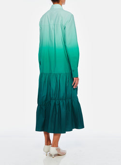 Dip Dye Shirtdress Green-8