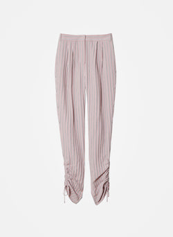 Viscose Twill Shirred Pant Dusty Pink Multi-6