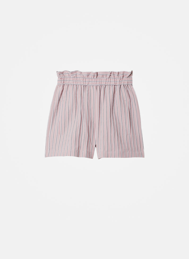 Viscose Twill Shorts Dusty Pink Multi-6