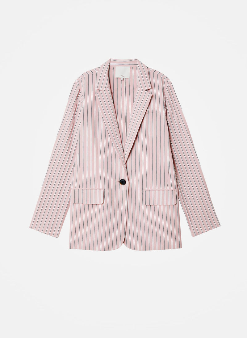 Viscose Twill Oversized Blazer Dusty Pink Multi-7