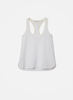 Sport Mesh Sleeveless Tank White-5