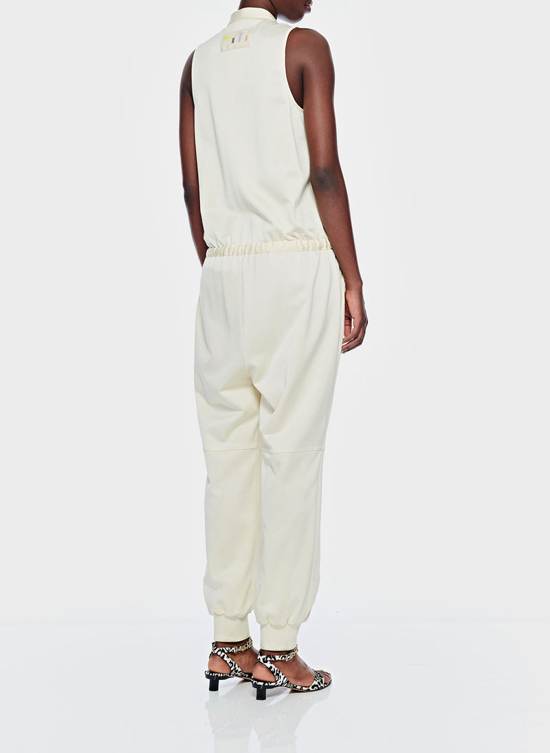 Sculpted Pique Jumpsuit Butter-3