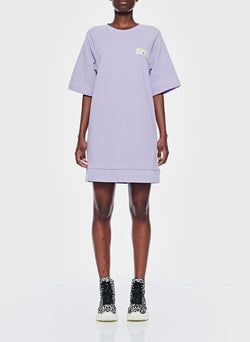 Lighweight Sweatshirt Dress Lavender-1