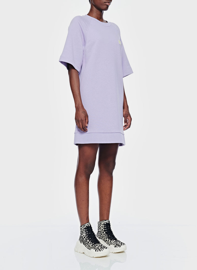 Lighweight Sweatshirt Dress Lavender-2