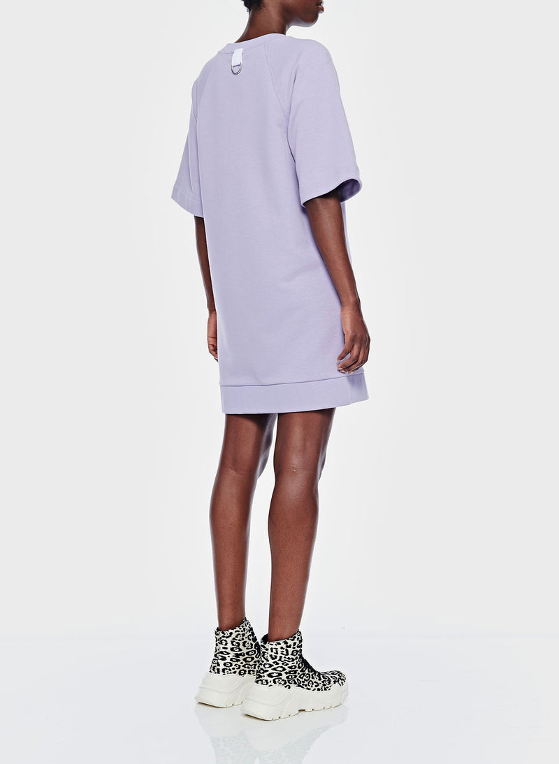 Lighweight Sweatshirt Dress Lavender-3