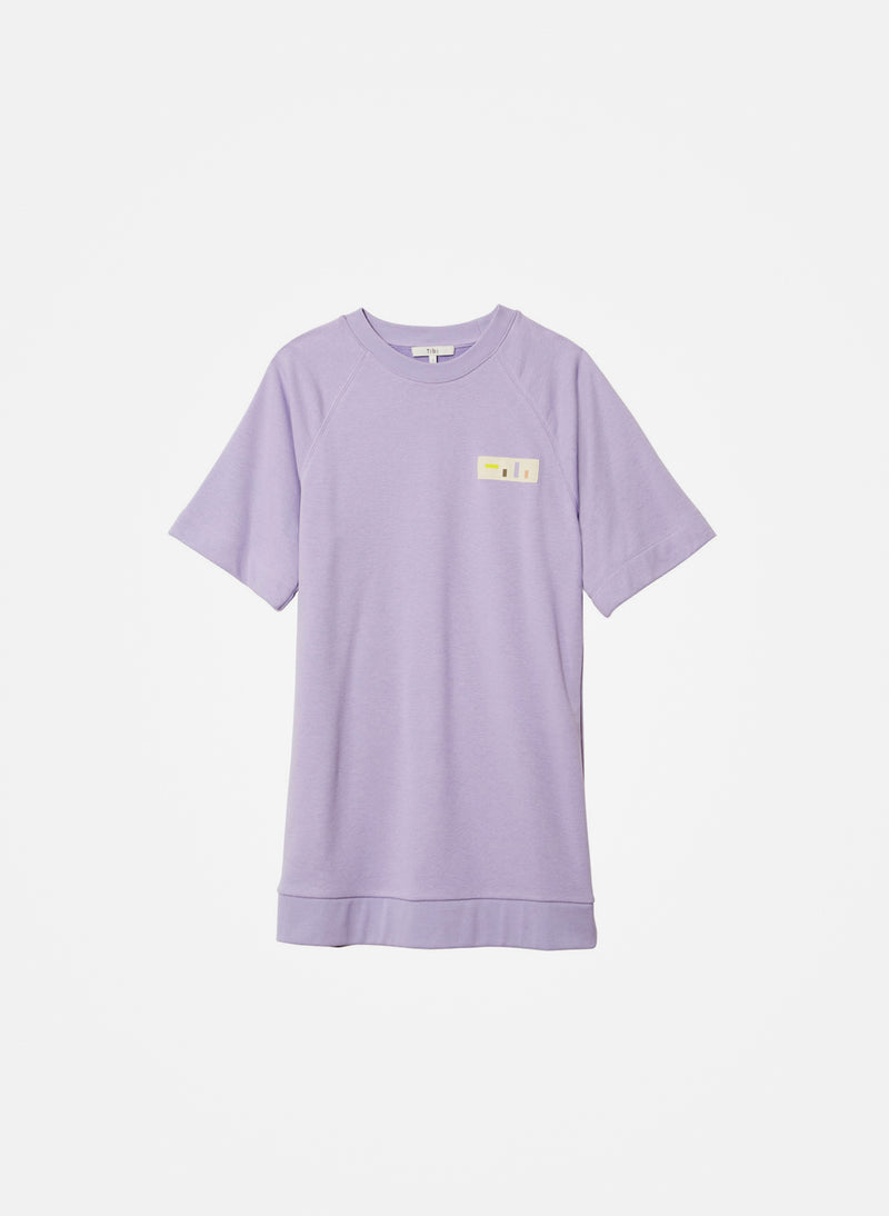 Lighweight Sweatshirt Dress Lavender-4