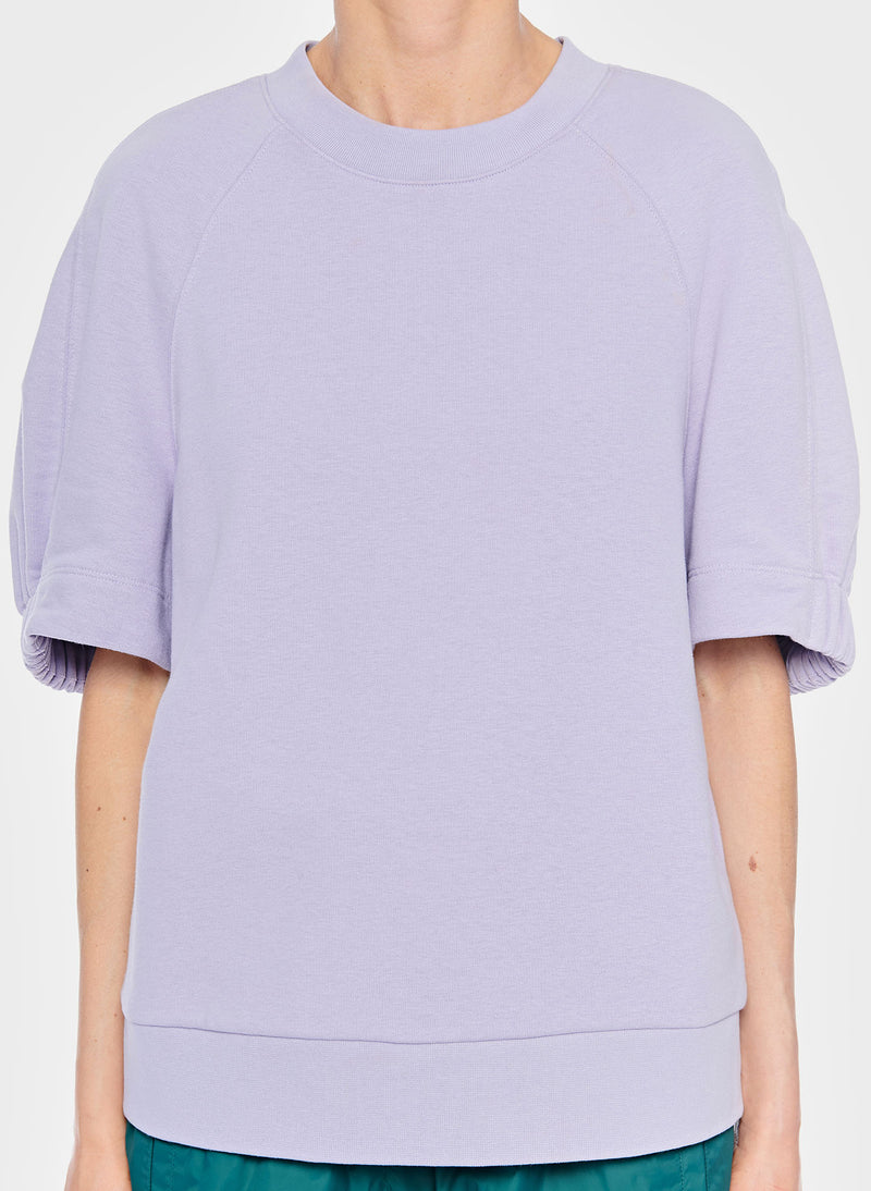 Lightweight Short Sleeve Sweatshirt Lavender-5