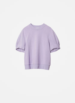 Lightweight Short Sleeve Sweatshirt Lavender-6