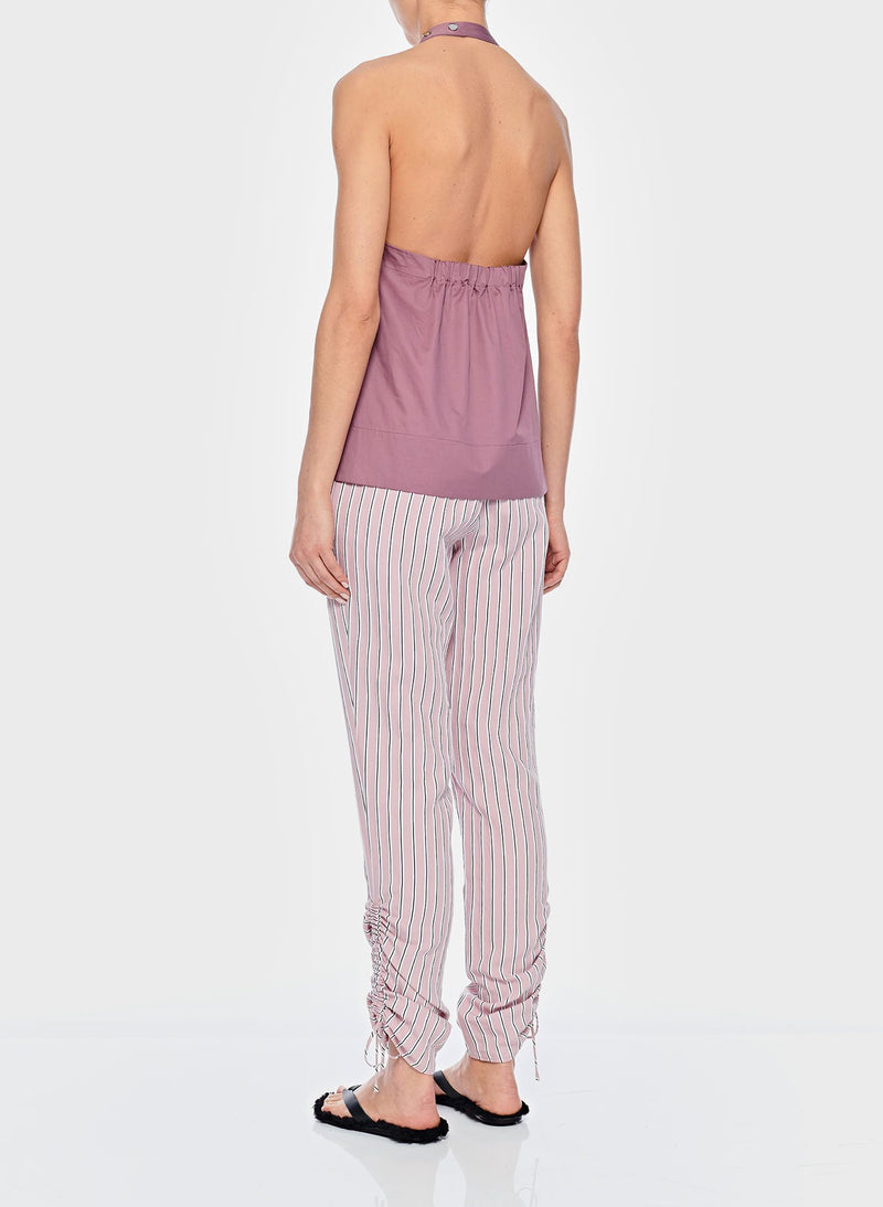 Tech Poplin Halter Top Dusty Plum-12