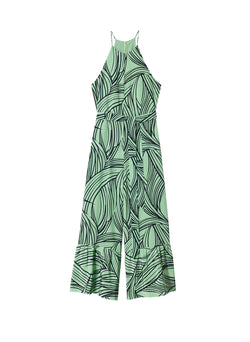 Zebra Print CDC Jumpsuit Mint Multi-3