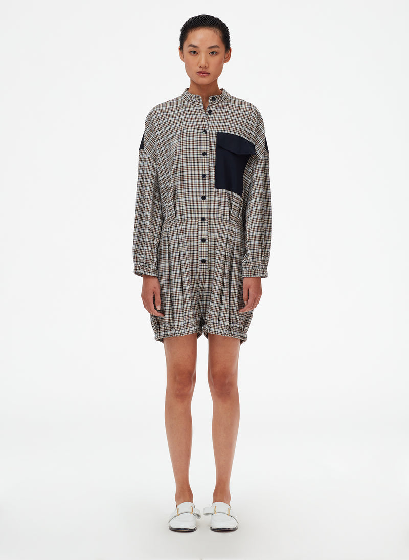 Sana Check Bloomer Jumper Blue Check Multi-1