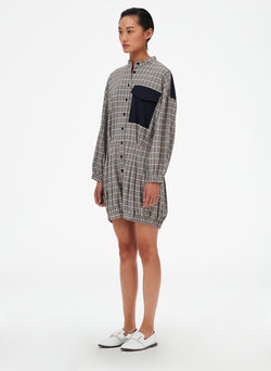 Sana Check Bloomer Jumper Blue Check Multi-2